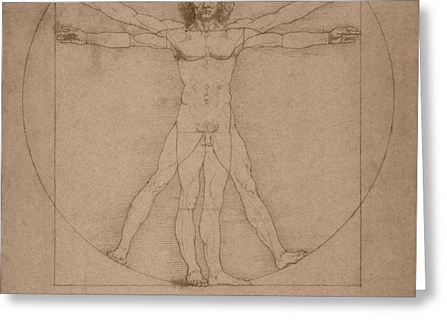 Vitruvian Man  Greeting Card by War Is Hell Store