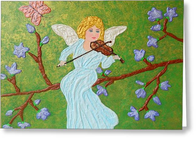 Fantasy Art Reliefs Greeting Cards - Vitula Greeting Card by Liza Wheeler