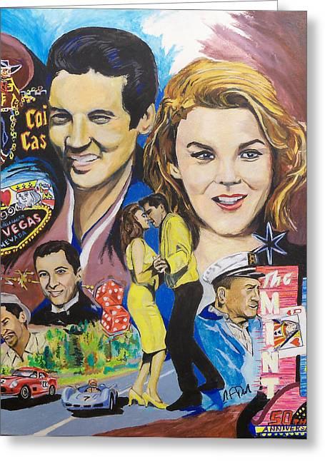 1964 Movies Greeting Cards - Viva 50 Greeting Card by Steve Teets