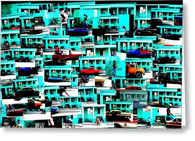 Transporation Greeting Cards - Viva Colorful Havana Cuba Greeting Card by Funkpix Photo Hunter