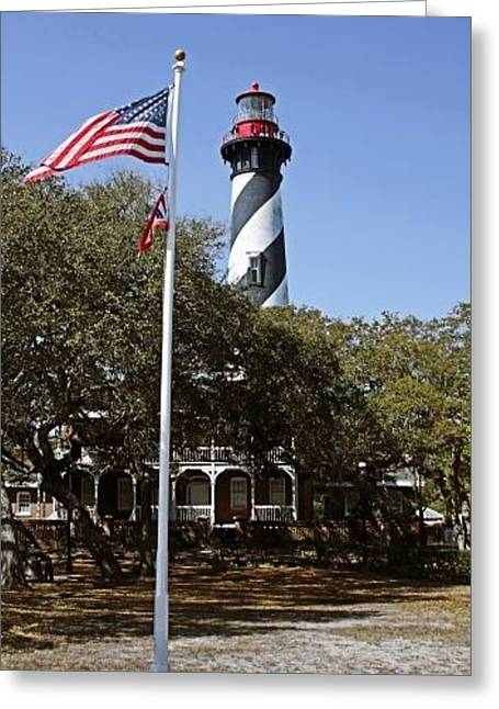 Watch Tower Greeting Cards - Viva Florida - The St Augustine Lighthouse Greeting Card by Christine Till