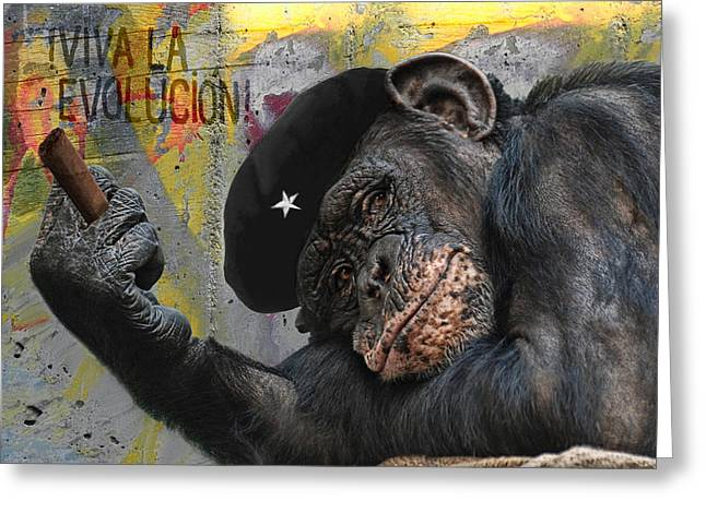 Political Allegory Greeting Cards - Viva La Evolucion Greeting Card by Joachim G Pinkawa
