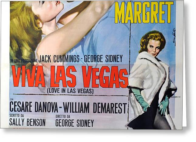 Viva Las Vegas Greeting Card by Nomad Art And  Design