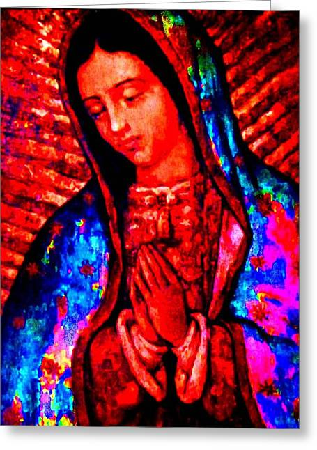Religious ist Mixed Media Greeting Cards - Viva Greeting Card by Michelle Dallocchio
