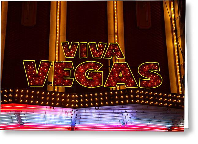 The Tiger Greeting Cards - Viva Vegas 2 Greeting Card by Michael Anthony