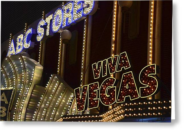 The Tiger Greeting Cards - Viva Vegas Greeting Card by Michael Anthony