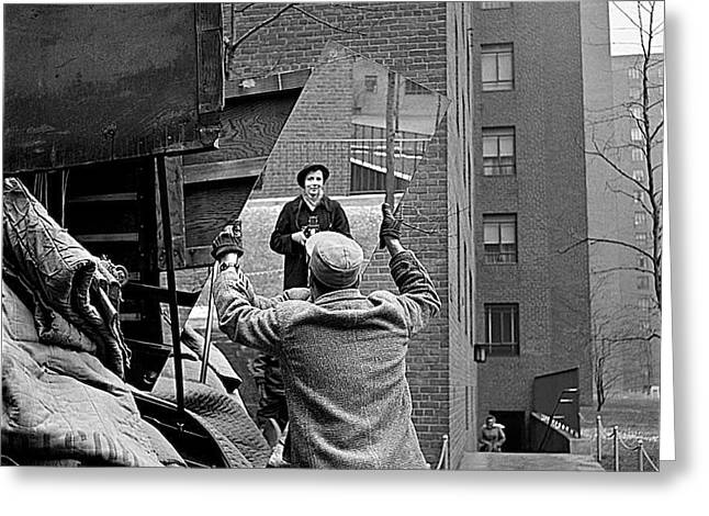Best Sellers -  - Self-portrait Photographs Greeting Cards - Vivian Maier self portrait probably taken in Chicago Illinois 1955 Greeting Card by David Lee Guss