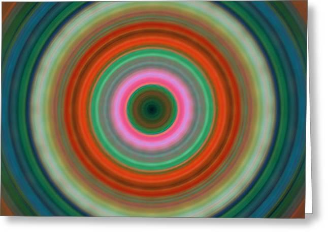 Block Print Art Greeting Cards - Vivid Peace - Circle Art By Sharon Cummings Greeting Card by Sharon Cummings