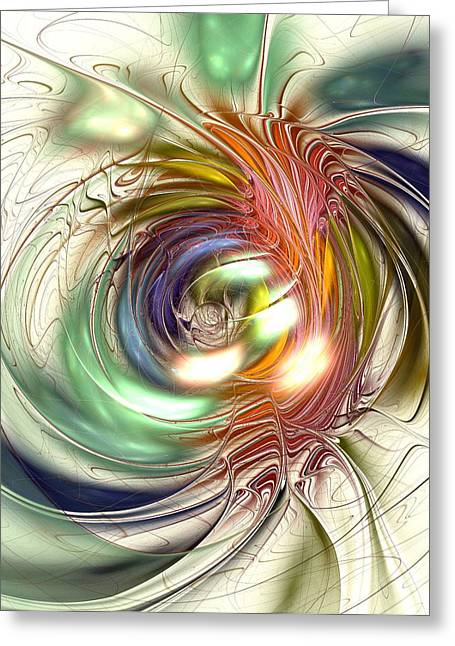 Vivid Colour Mixed Media Greeting Cards - Vivid Vision Greeting Card by Anastasiya Malakhova
