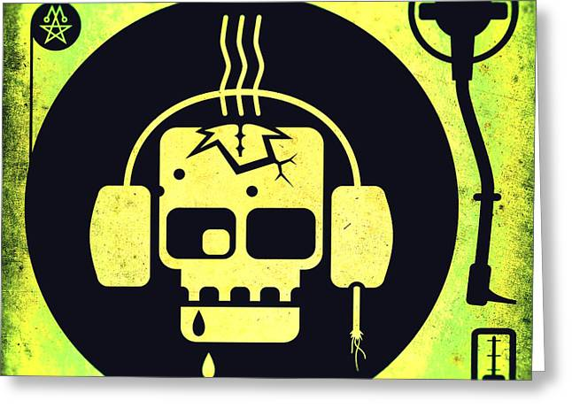 Vivid Zombie Turntable Greeting Card by Milton Thompson