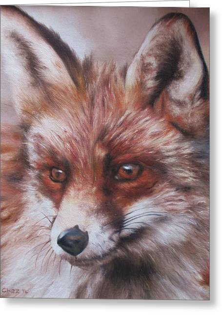 Abstract Nature Greeting Cards - Vixen Greeting Card by Cherise Foster