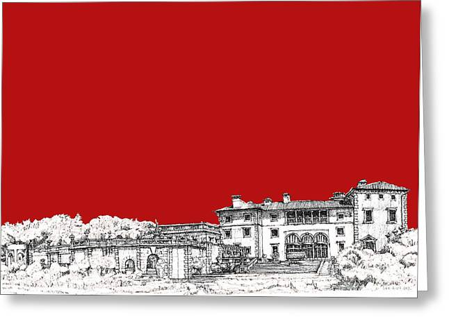 Registry Greeting Cards - Vizcaya in red Greeting Card by Building  Art