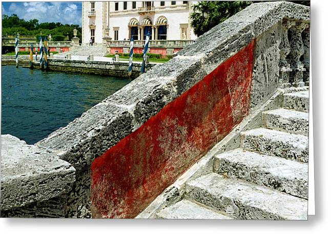 Vizcaya Museum and Gardens Biscayne Bay Miami FL Greeting Card by Amy Cicconi