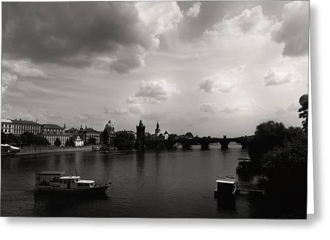 Vltava Digital Greeting Cards - Vltava River Prague Greeting Card by Conny Angelkvist
