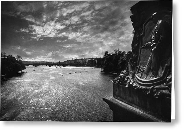 Lomo Colors Greeting Cards - Vltava Greeting Card by Taylan Soyturk