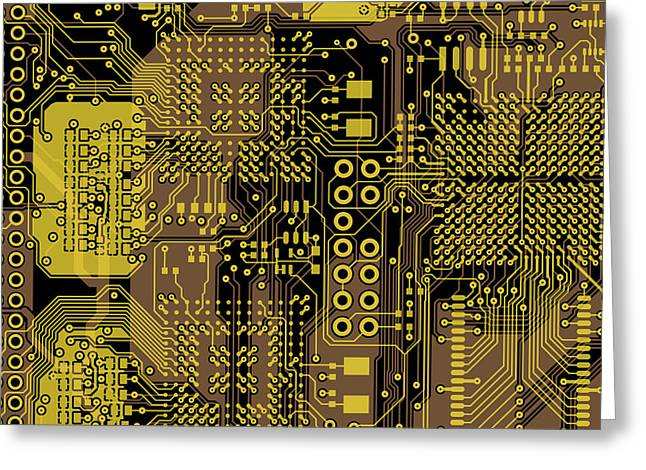 Vo96 Circuit 5 Greeting Card by Paul Vo