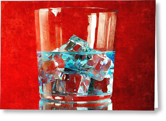 Awesome Mixed Media Greeting Cards - Vodka and Tonic Greeting Card by Karyn Robinson