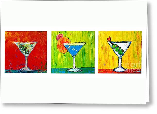 Vodka Martini Collection Bar Decor - Modern Art Greeting Card by Patricia Awapara