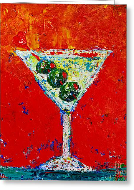 Staging Greeting Cards - Vodka Martini Shaken not stirred Greeting Card by Patricia Awapara