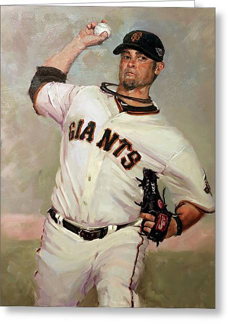 Sf Giants Greeting Cards - Voge Greeting Card by Darren Kerr