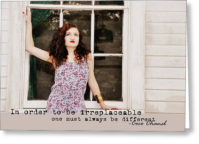 Irreplaceable Greeting Cards - VOGUE quote Greeting Card by JAMART Photography