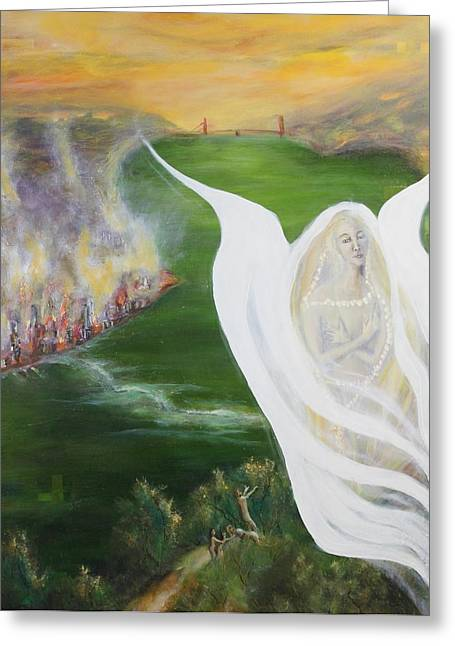 Visionary Artist Greeting Cards - Voice In The Garden Greeting Card by Bruce Brennan