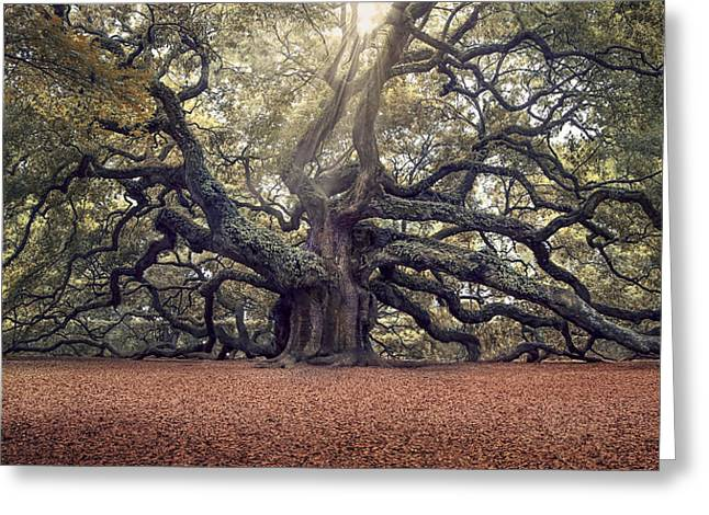 Charleston Greeting Cards - Voices of the Angels Greeting Card by Magda  Bognar