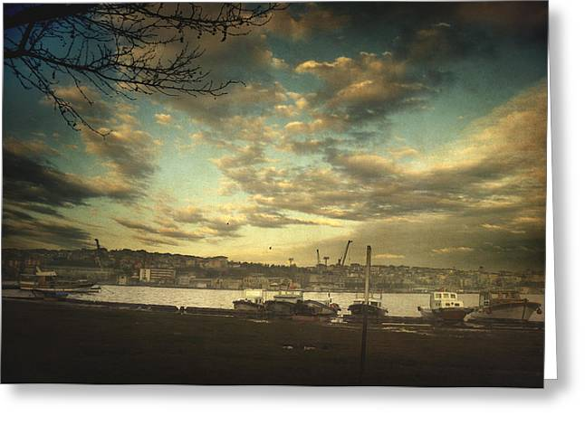 Old City Prints Greeting Cards - Void 17.03 Greeting Card by Taylan Soyturk