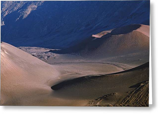 Craters Greeting Cards - Volcanic Crater, Haleakala, Maui, Big Greeting Card by Panoramic Images