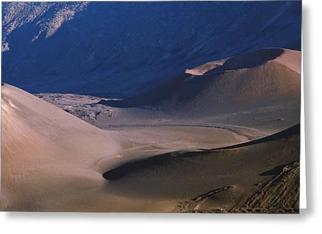Haleakala Greeting Cards - Volcanic Crater, Haleakala, Maui, Big Greeting Card by Panoramic Images