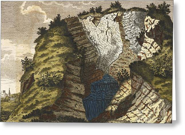 Mound Greeting Cards - Volcanic Mound, Germany, 1776 Greeting Card by British Library