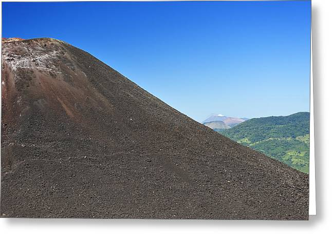 Negro Greeting Cards - Volcano Greeting Card by Christian Heeb
