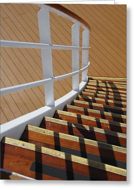 Wooden Stairs Greeting Cards - Volendam Stairs Greeting Card by Marilyn Wilson