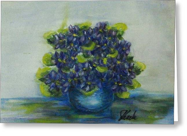 Flovers Greeting Cards - Volets A La Manet Greeting Card by Zdenka Kezele