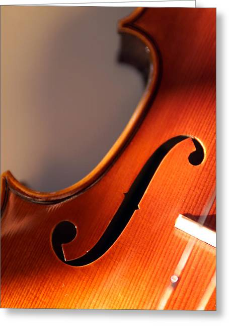 Stringed Instrument Greeting Cards - Volin XI Greeting Card by Jon Neidert