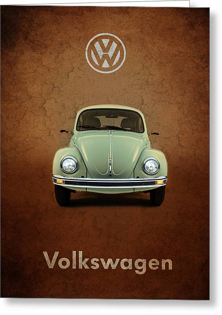 Volkswagen Beetle Greeting Cards - Volkswagen Beetle Greeting Card by Mark Rogan