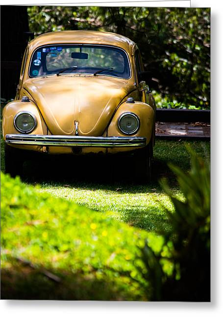 Vw Beetle Greeting Cards - Volkswagen Beetle Greeting Card by Parker Cunningham