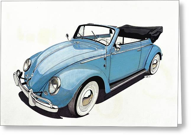 Vw Beetle Greeting Cards - Volkswagen Beetle Greeting Card by Paul Kuras
