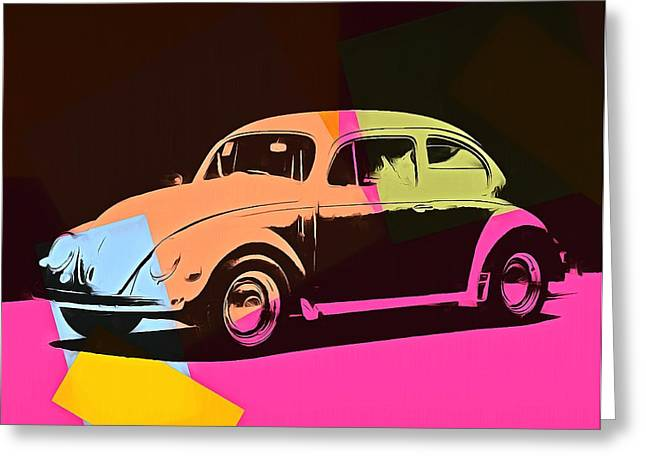 Vw Beetle Greeting Cards - Volkswagen Beetle Pop Art 2 Greeting Card by Dan Sproul