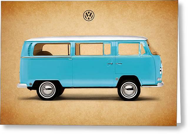Volkswagen Greeting Cards - Volkswagen Bus Greeting Card by Mark Rogan