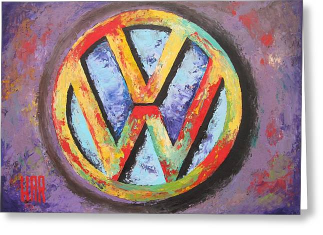 Quality Mixed Media Greeting Cards - VOLKSWAGEN - Das Auto Greeting Card by Dan Haraga