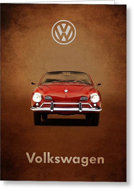 Volkswagen Greeting Cards - Volkswagen Karmann Ghia Greeting Card by Mark Rogan
