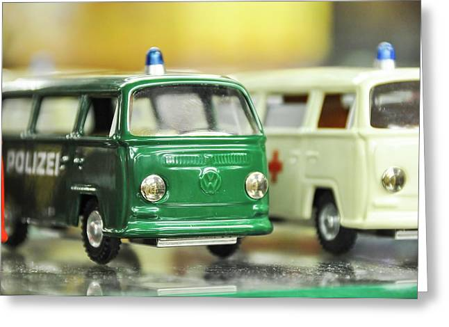 Volkswagen Miniature Cars Greeting Card by Photostock-israel