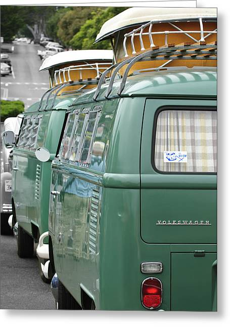 Volkswagen Greeting Cards - Volkswagen VW Bus Greeting Card by Jill Reger