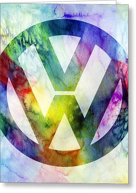 Volkswagon Logo Greeting Card by Jon Neidert