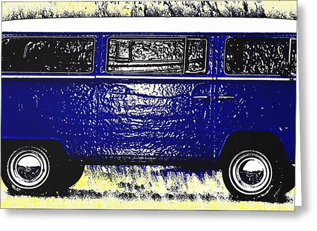 Volkswagon Greeting Cards - Volkswagon Microbus Greeting Card by Bill Cannon