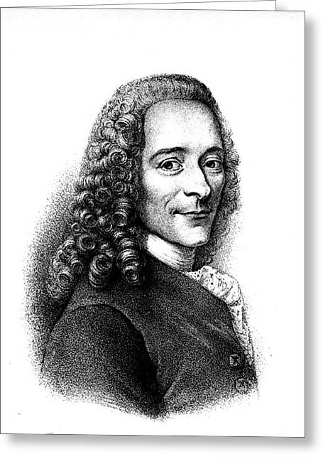 Voltaire Greeting Card by Collection Abecasis