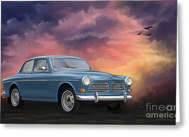 Amazon Greeting Card Greeting Cards - Volvo Amazon Greeting Card by Linton Hart