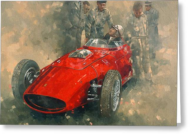 Race Photographs Greeting Cards - Von Tripps Oil On Canvas Greeting Card by Peter Miller