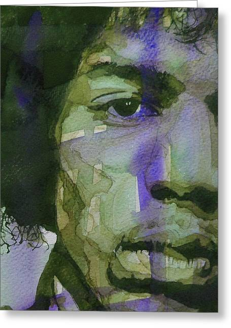Jimi Hendrix Paintings Greeting Cards - Voodoo Child Greeting Card by Paul Lovering